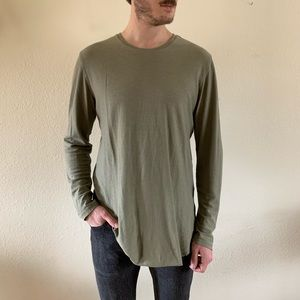 PacSun scalloped and extended length long sleeve